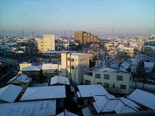 雪化粧の良い天気