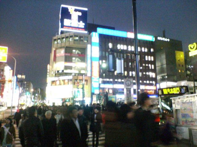 東京の高田馬場駅前