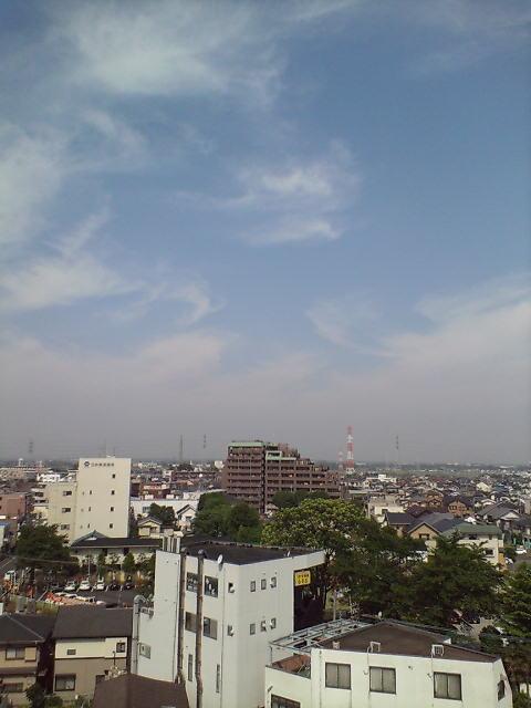 梅雨前の晴天