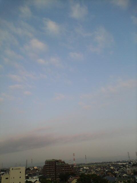 おっ…夏の終わりの空♪