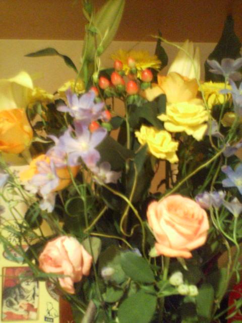 花に見送られて(^-^)