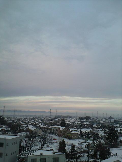 幻想的な景色の朝