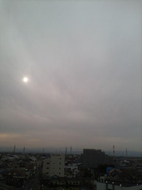 まもなく日が暮れます