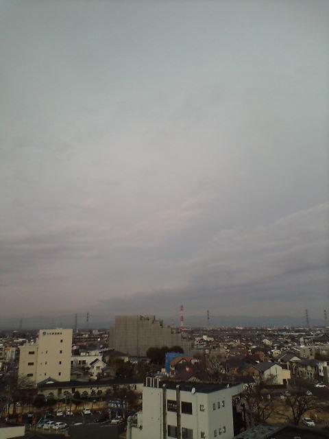 冬の流れ雲