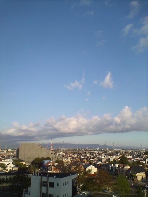 龍雲の渡る空模様
