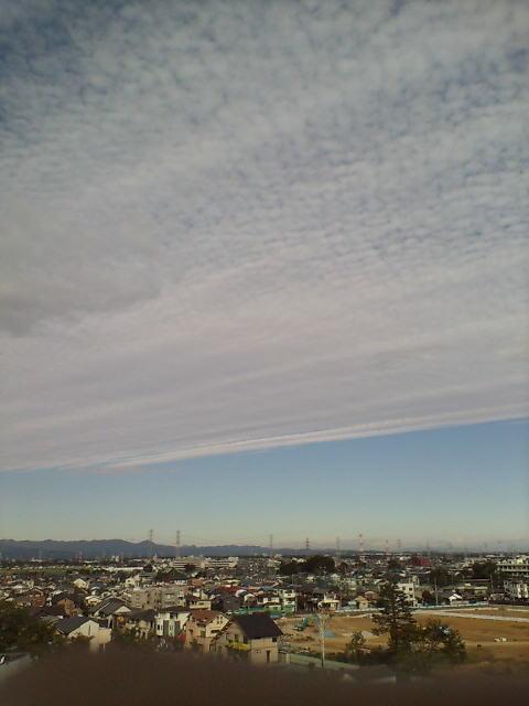 雲が綺麗です