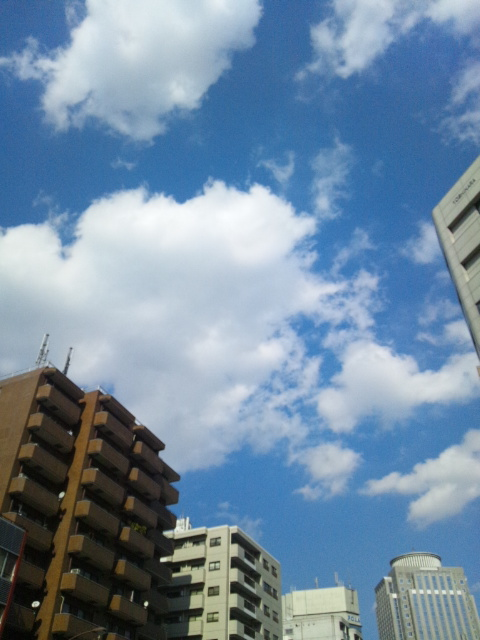 雲と青空と♪