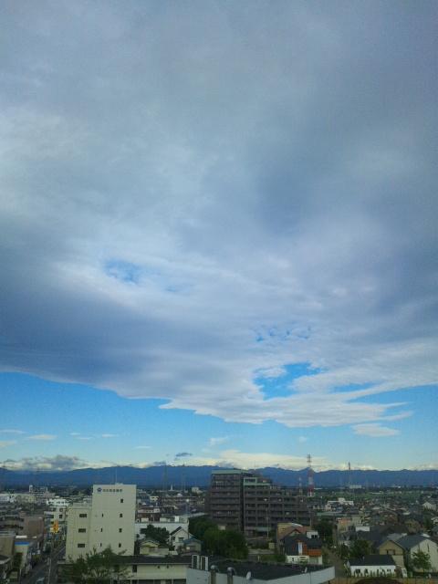 台風一過の朝です♪